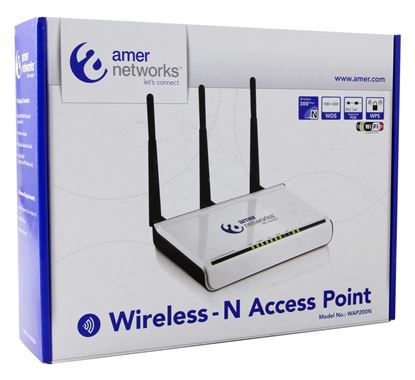 Picture of Amer Networks 802.11n 300Mbps Access Point w/PoE - WAP200N