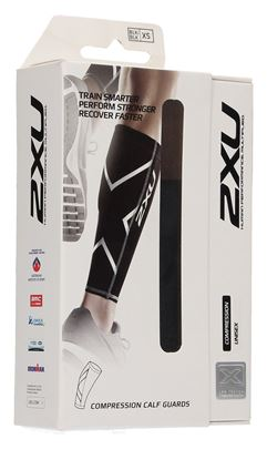 Picture of 2XU Non-Stirrup Compression Calf Guard Black, X-Small