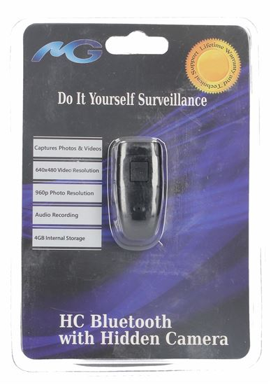 Elgeo Mini Gadgets Bluetooth Earpiece With Vga Covert Camera